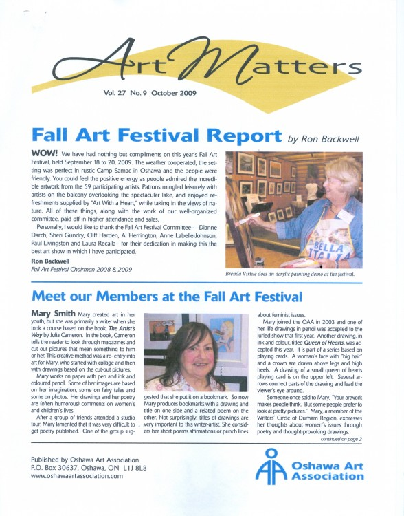 Art Matters October 2009 page 1