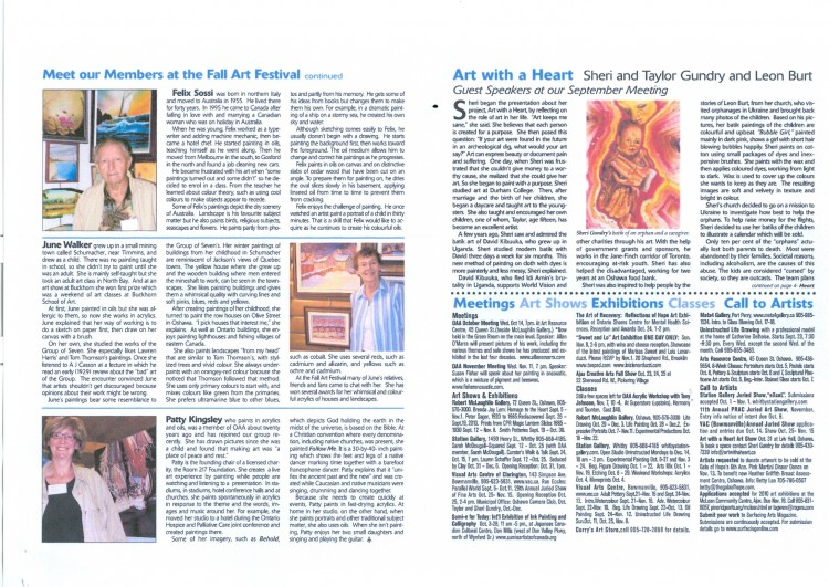 Art Matters October 2009 page 2