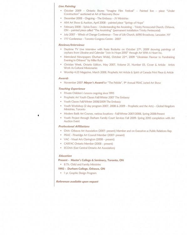 Current CV p2